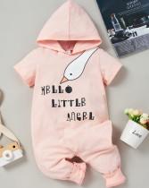 Baby Girl Print Sommer Hoody Strampler
