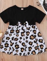 Vestido skater con lazo y estampado de vaca de verano para bebé niña