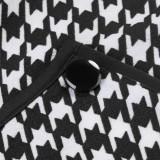 Sommerdruck O-Neck Wrapped Upper Office Midi-Kleid
