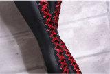 Leggings con cordones de cuero negro sexy