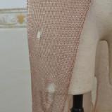 Summer Beach Knitting Side Slit Vestido largo sin mangas rasgado