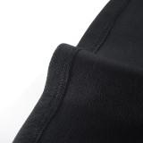 Vestido de fiesta vintage negro de verano con mangas cortas anchas