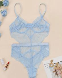 Valentines sexy kanten riem teddy lingerie