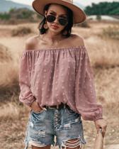 Summer Off Shoulder Puff Sleeve Lose Bluse