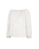 Blusa suelta con manga abullonada y hombros descubiertos de verano