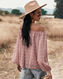 Summer Off Shoulder Puff Sleeve Lose Bluse