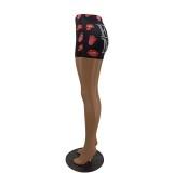 Pantalones cortos deportivos con estampado de verano