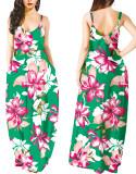 Vestido largo largo con estampado de verano