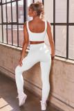 Summer Solid Color Yoga BH und Legging Set mit hoher Taille