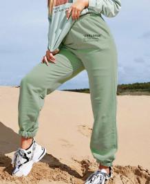 Letter Print Sport Jogginghose mit Taschen