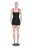 Solid Color Sexy Ruched Halter Bodycon Dress