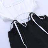 Sexy Kontraststrings Bodycon Jumpsuit