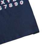 Camicia estiva con stampa di lettere per neonato
