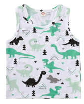 Baby Boy Summer Animal Print Weste