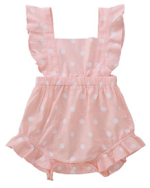 Baby Girl Summer Polka Print Rompers