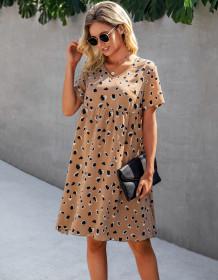 Sommer Casual Print A-Linie Kurzes Kleid
