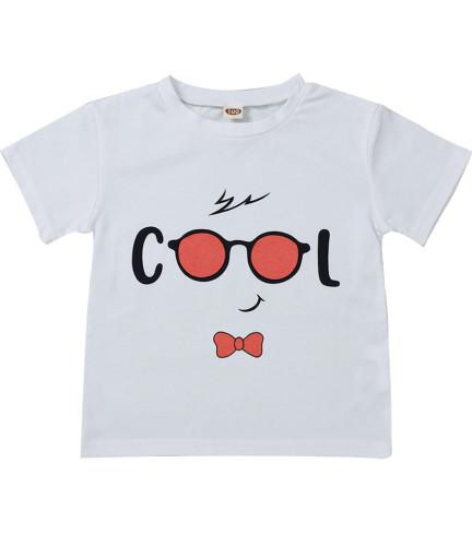 Kids Boy Yaz Desenli Beyaz Gömlek
