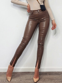 Slit Bottom Sexy Lederhose