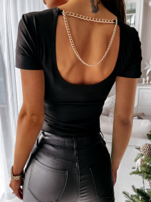 Chemise basique Summer Black Chains Low Back