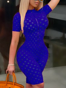 Sommer Sexy Hollow Out Solid Bodycon Strampler