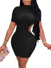 Mini vestito aderente tagliato sexy da festa estiva