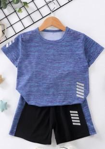 Kids Boy Summer Sports Shirt y Shorts 2PC Set