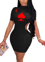 Mini vestido ajustado con estampado sexy de fiesta de verano