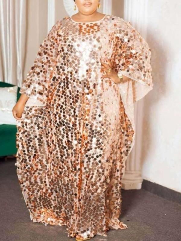 Vestido de lantejoulas Abaya Muslim Kaftan Maxi