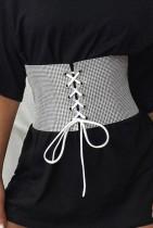 Cinturón de cintura con cordones y cuentas de moda
