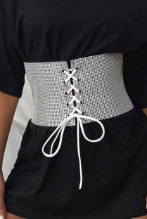 Fashion Beaded Lace-Up Waist Belt