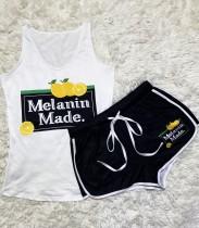 Sommer Print Strap Weste und Shorts passend zum Freizeitset