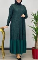 プラスサイズドバイアラブ中東イスラム教徒カフタンイスラムアバヤマキシドレス