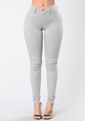 Summer Grey Denim High Waist Fit Jeans