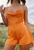 Pagliaccetti con cinturino Summer Orange Chic