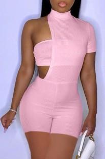 Розовые сексуальные облегающие комбинезоны нестандартной формы для летней вечеринки