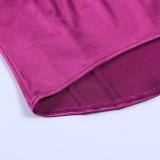 Summer Purple Vintage Strapless Busiter Top