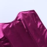 Top Busiter senza spalline vintage viola estivo