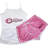 Set coordinato in due pezzi con gilet e pantaloncini con stampa sport estivi
