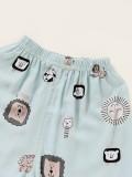 Set pigiama 2PC per camicia e pantaloni con stampa fragola estiva per bambino