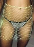 Summer Beach Fishnet Beaded High Waist Skirt Cover-Up