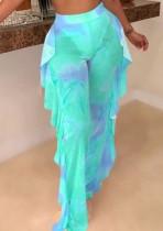 Papillon sexy voir à travers un pantalon taille haute
