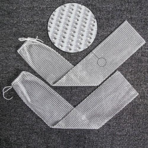 Zomerhandschoenen met kristallen mouwen