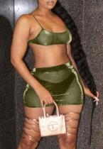 Summer See Through Sexy Bra e Mini Skirt 2PC Party Set