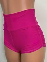 Pantaloncini da jogging a vita larga rosa per gli sport estivi