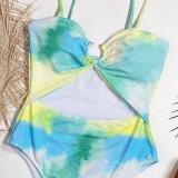Traje de banho com alça em O-ring de uma peça para o verão