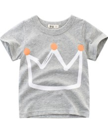 Çocuk Boy Yaz Baskı O-Boyun T Shirt