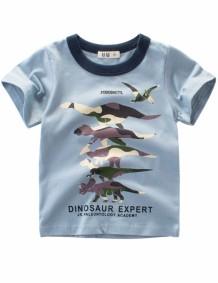 T-shirt met ronde hals en print voor kinderen