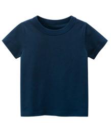 Çocuk Boy Yaz Mavi O-Boyun T Shirt