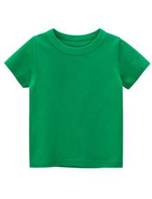 T-shirt O-Collo verde estiva per bambino