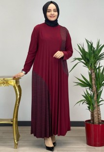 Summer Patch Long Sleeve Abaya Muslim Long Robe